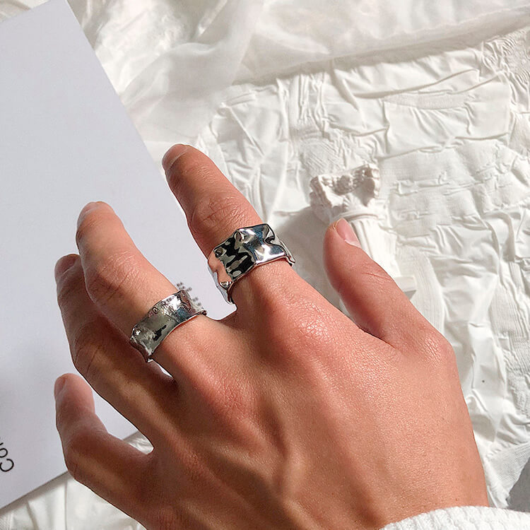 Кольца SAZ Studio Crumpled Rings Wide & Thin (4)