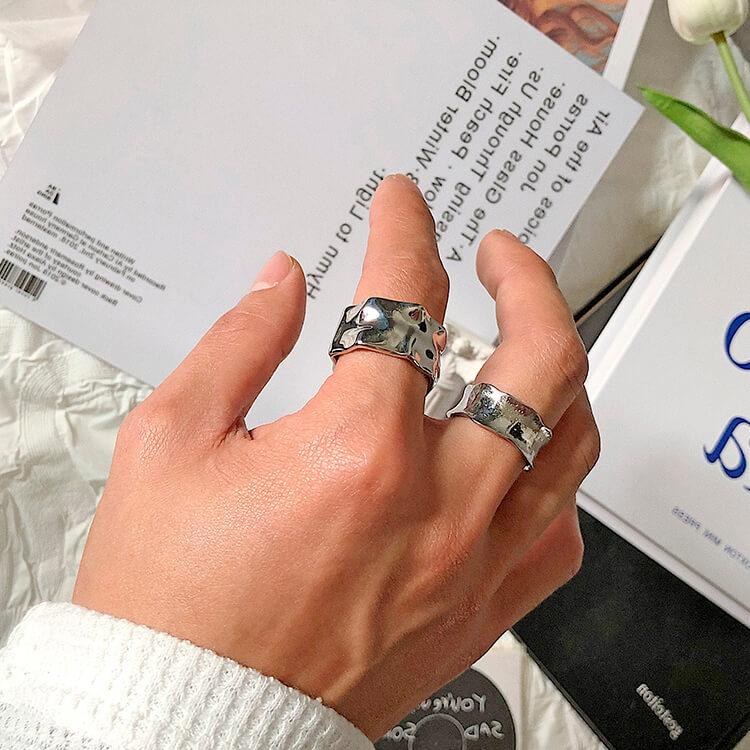 Кольца SAZ Studio Crumpled Rings Wide & Thin (5)