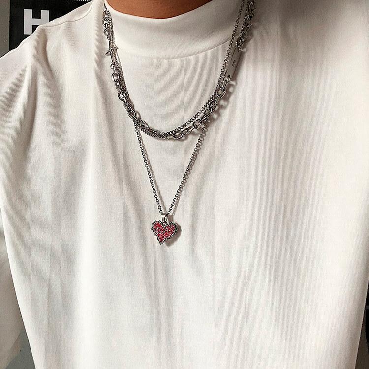 Подвеска SAZ Studio Pendant Inlaid Heart (4)