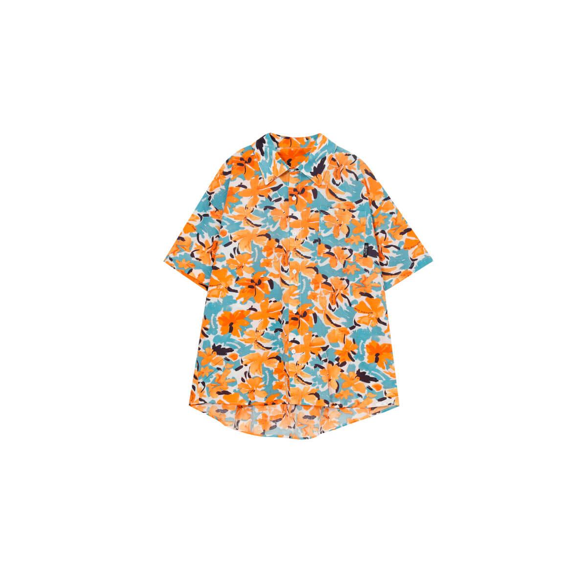 Рубашка Cui Layout Studio Rich Floral Shirt Orange