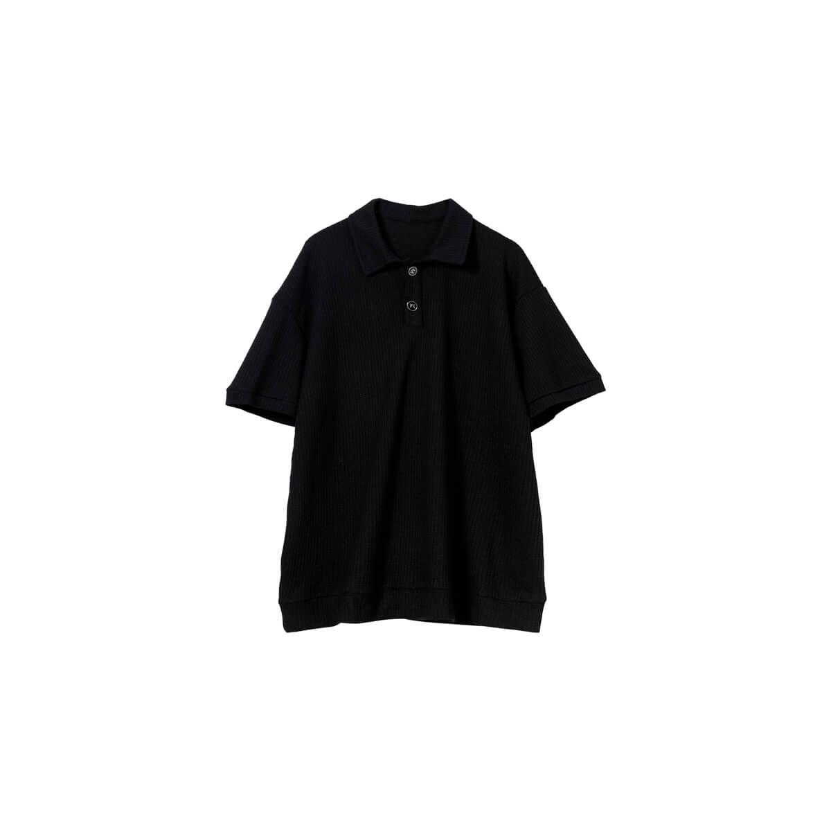 Футболка Cui Layout Studio Polo T-shirt Waffle Texture Black