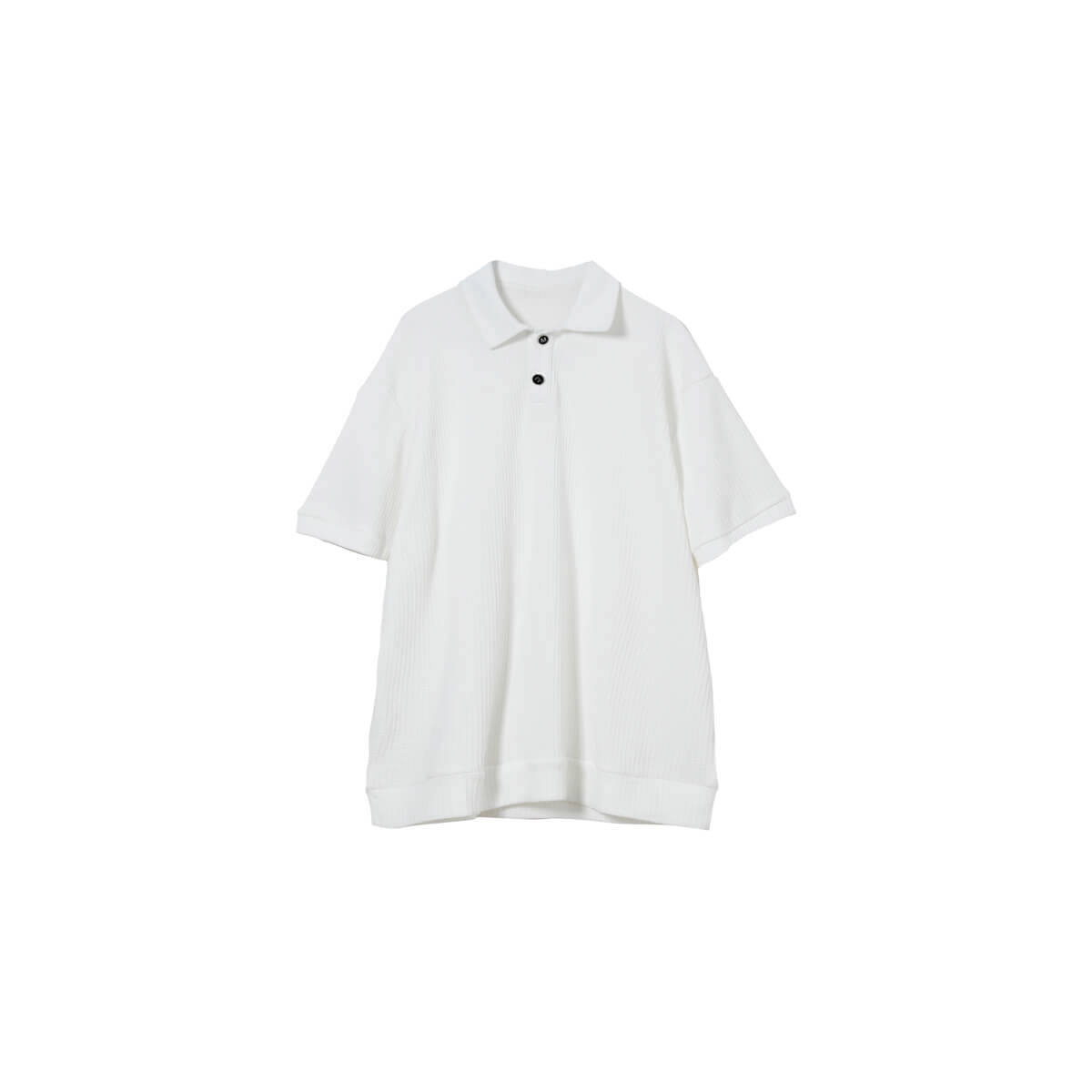 Футболка Cui Layout Studio Polo T-shirt Waffle Texture White