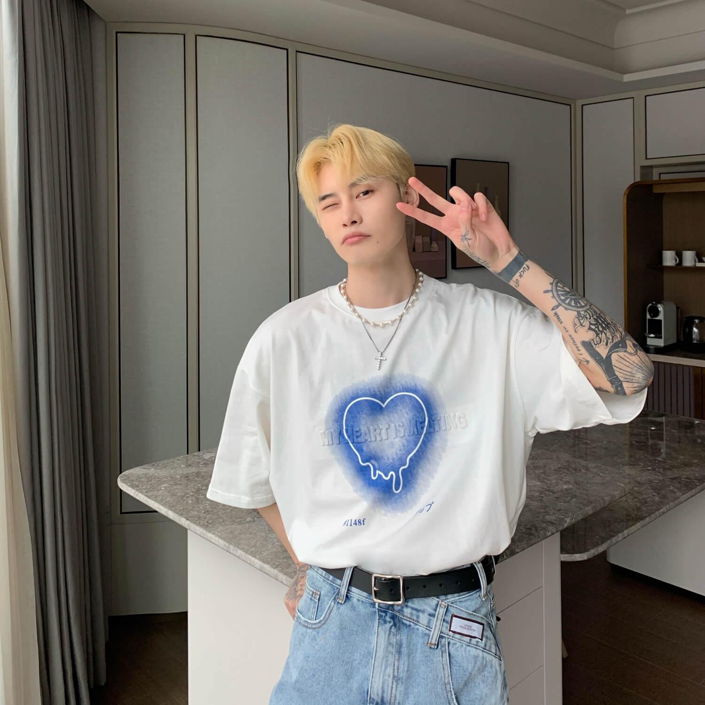 Футболка Cui Layout Studio T-shirt Neon Heart Print (10)