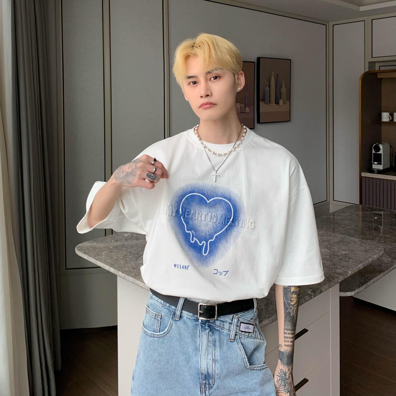 Футболка Cui Layout Studio T-shirt Neon Heart Print (8)