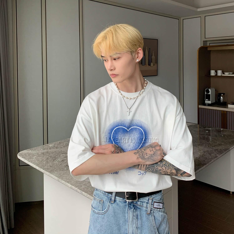 Футболка Cui Layout Studio T-shirt Neon Heart Print (9)