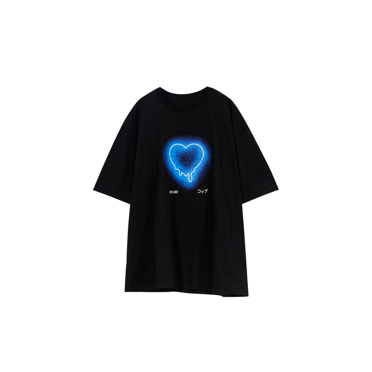 Футболка Cui Layout Studio T-shirt Neon Heart Print Black