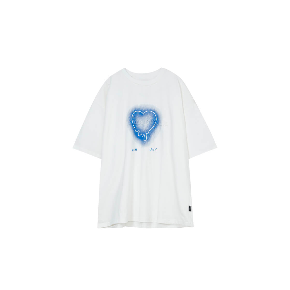 Футболка Cui Layout Studio T-shirt Neon Heart Print White