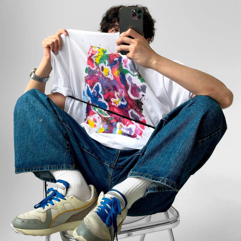 Футболка GB Studio T-shirt Acrylic Paint Print (1)