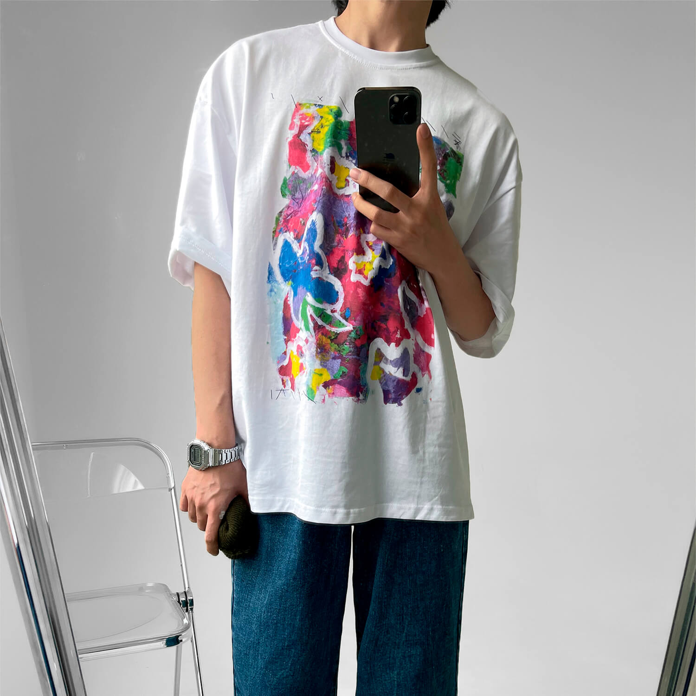 Футболка GB Studio T-shirt Acrylic Paint Print (2)