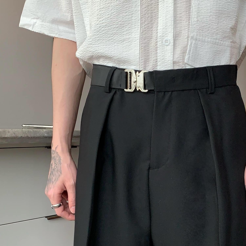 Шорты Cui Layout Studio Basic Bermuda Shorts Fabric Belt (10)