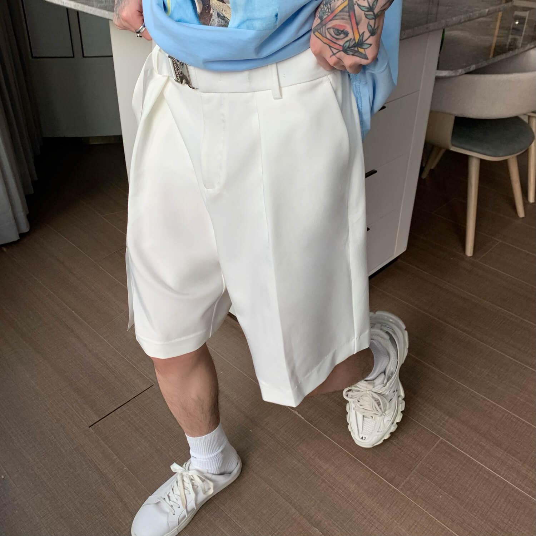 Шорты Cui Layout Studio Basic Bermuda Shorts Fabric Belt (14)