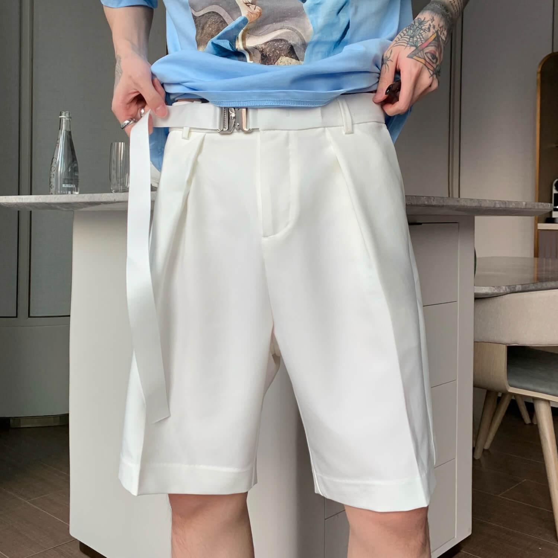 Шорты Cui Layout Studio Basic Bermuda Shorts Fabric Belt (15)
