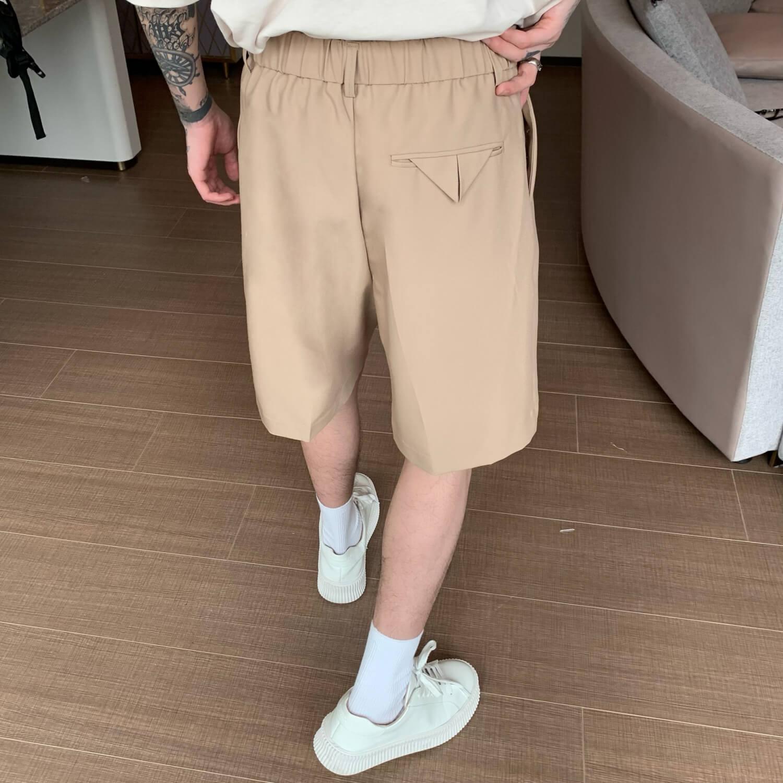 Шорты Cui Layout Studio Basic Bermuda Shorts Fabric Belt (4)