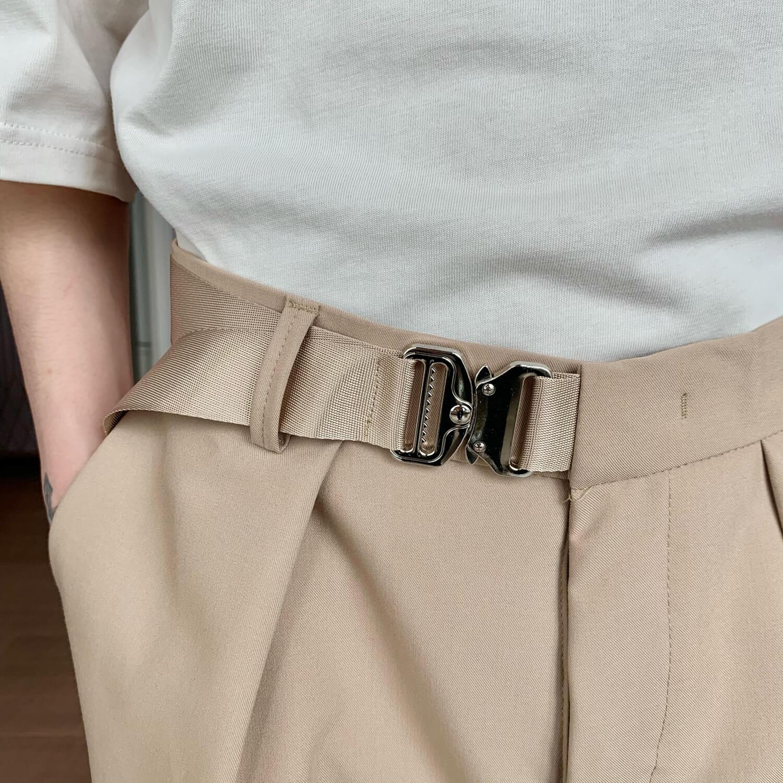 Шорты Cui Layout Studio Basic Bermuda Shorts Fabric Belt (5)