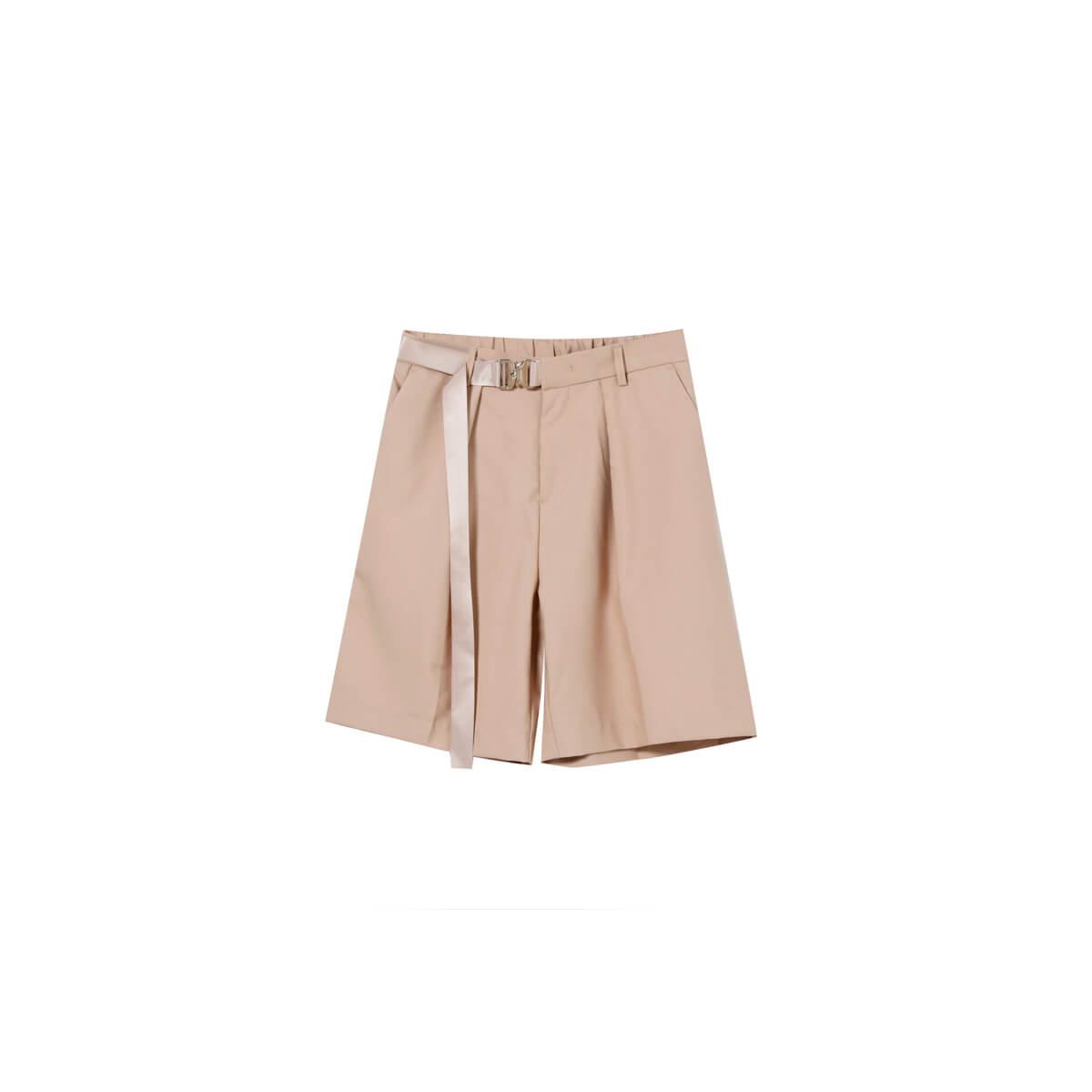 Шорты Cui Layout Studio Basic Bermuda Shorts Fabric Belt Beige