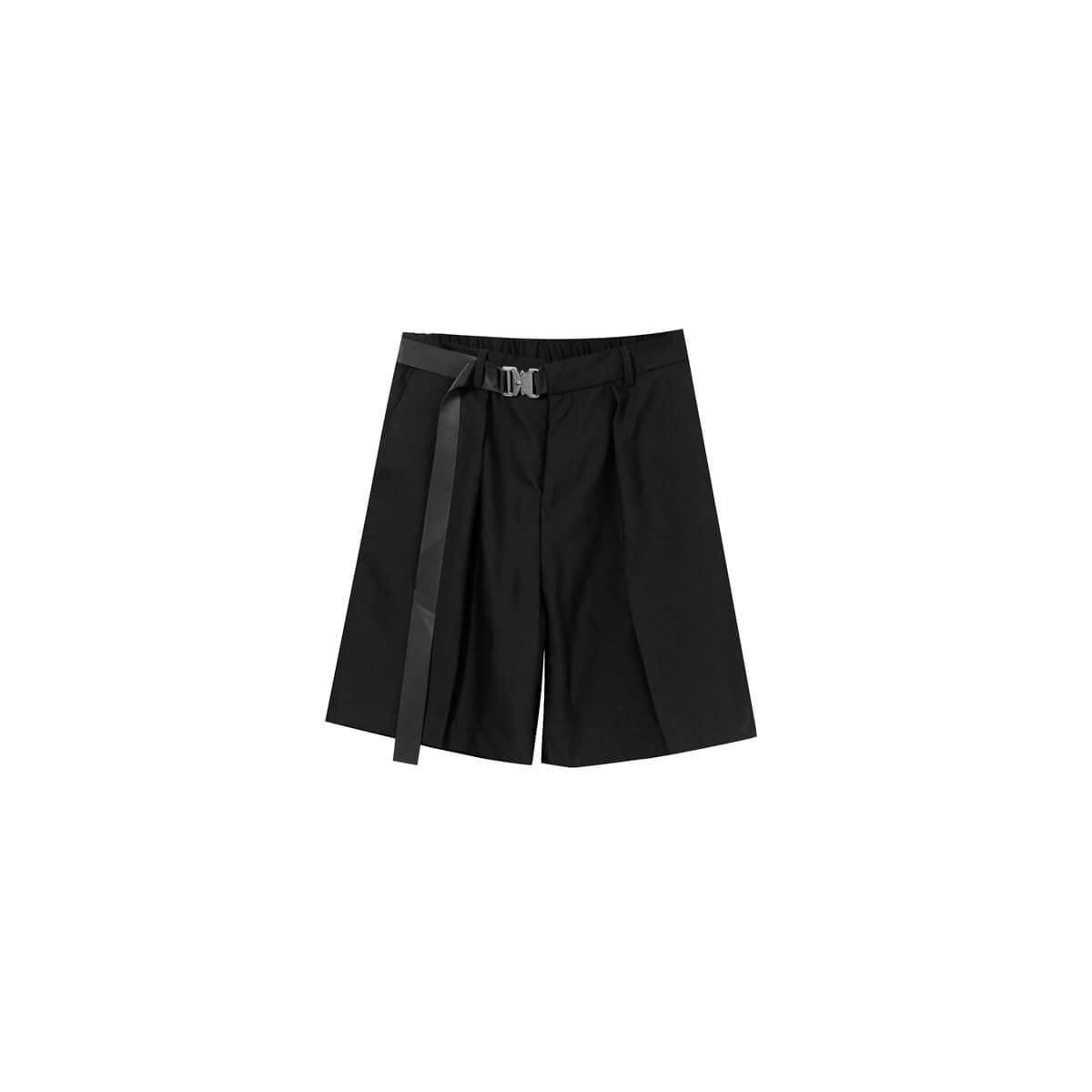 Шорты Cui Layout Studio Basic Bermuda Shorts Fabric Belt Black