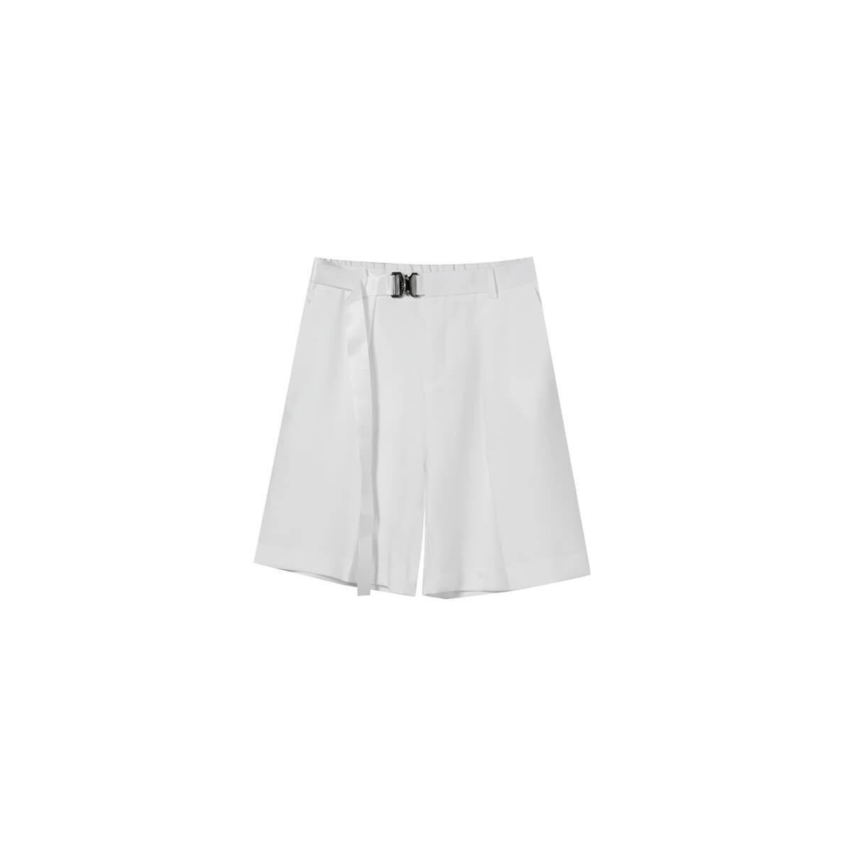 Шорты Cui Layout Studio Basic Bermuda Shorts Fabric Belt White
