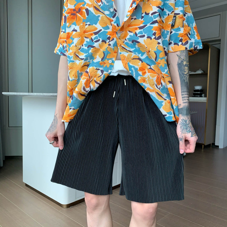 Шорты Cui Layout Studio Minimalist Vertical Striped Shorts (14)