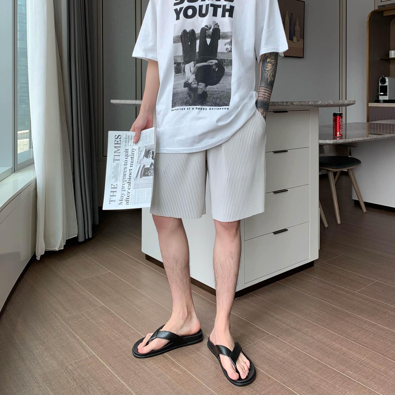 Шорты Cui Layout Studio Minimalist Vertical Striped Shorts (3)