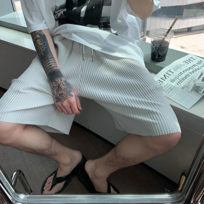 Шорты Cui Layout Studio Minimalist Vertical Striped Shorts (5)