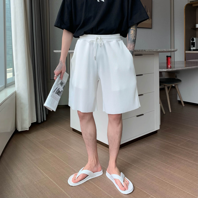 Шорты Cui Layout Studio Minimalist Vertical Striped Shorts (6)