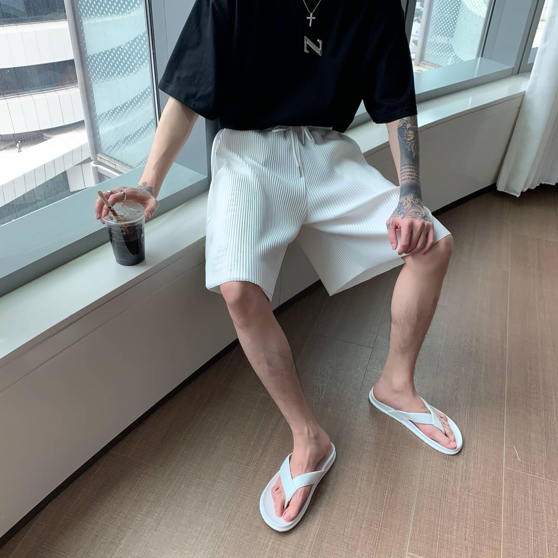Шорты Cui Layout Studio Minimalist Vertical Striped Shorts (7)