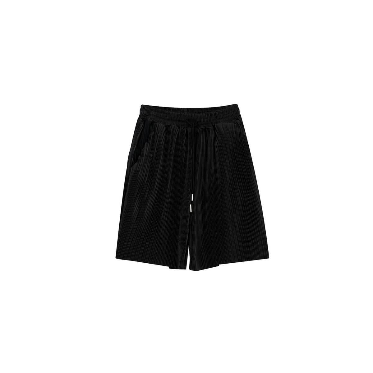 Шорты Cui Layout Studio Minimalist Vertical Striped Shorts Black