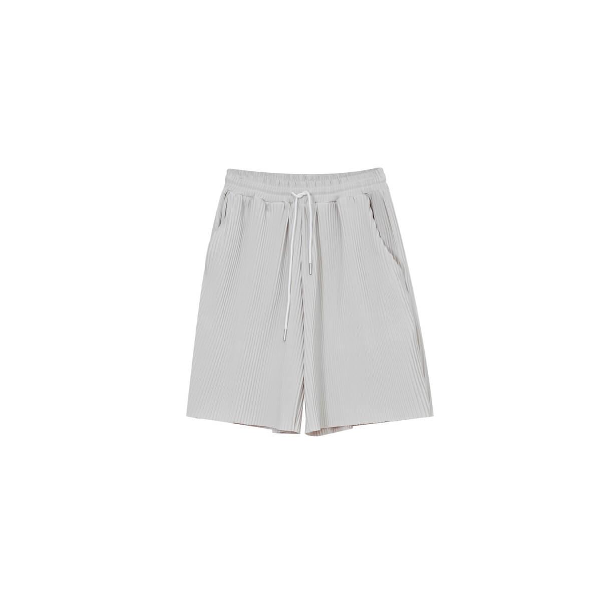 Шорты Cui Layout Studio Minimalist Vertical Striped Shorts Gray