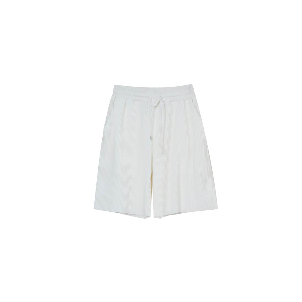 Шорты Cui Layout Studio Minimalist Vertical Striped Shorts White