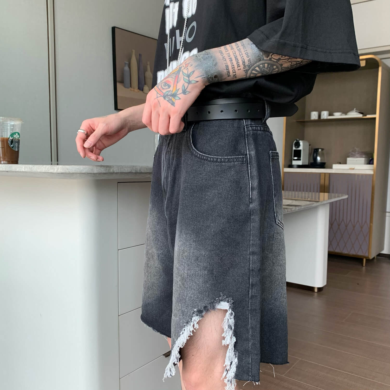 Шорты Cui Layout Studio Ripped Split Denim Shorts (5)