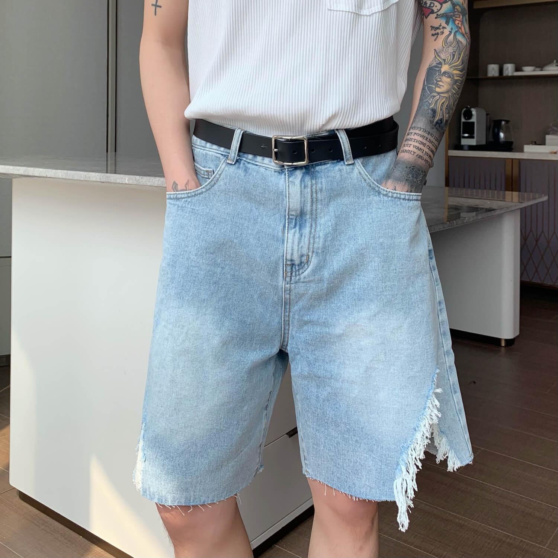 Шорты Cui Layout Studio Ripped Split Denim Shorts (6)