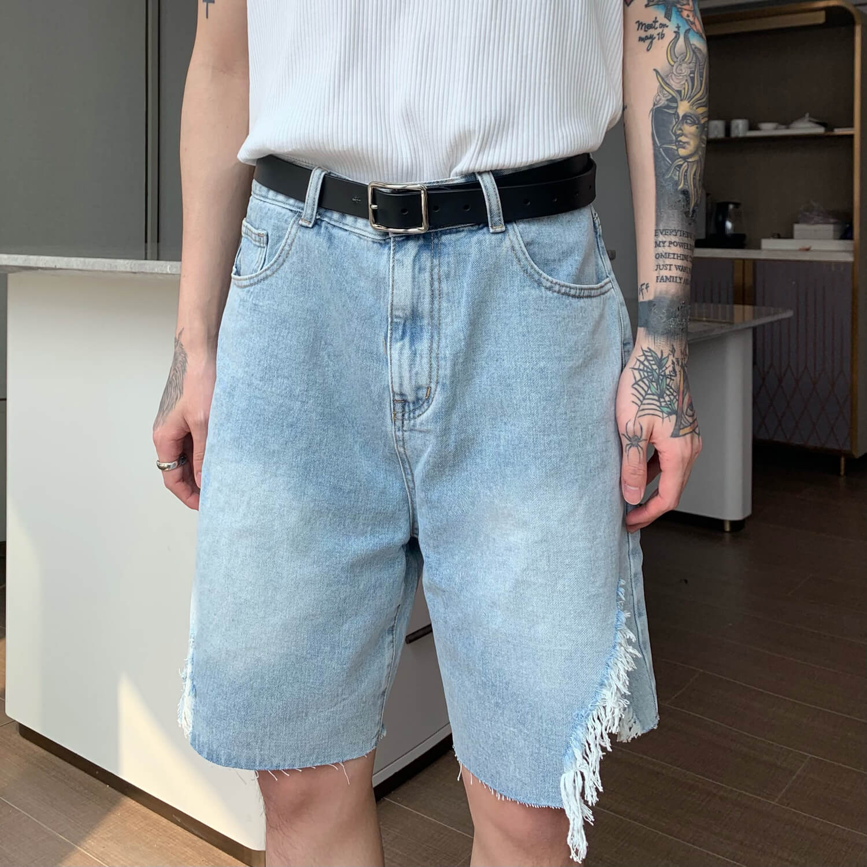 Шорты Cui Layout Studio Ripped Split Denim Shorts (7)