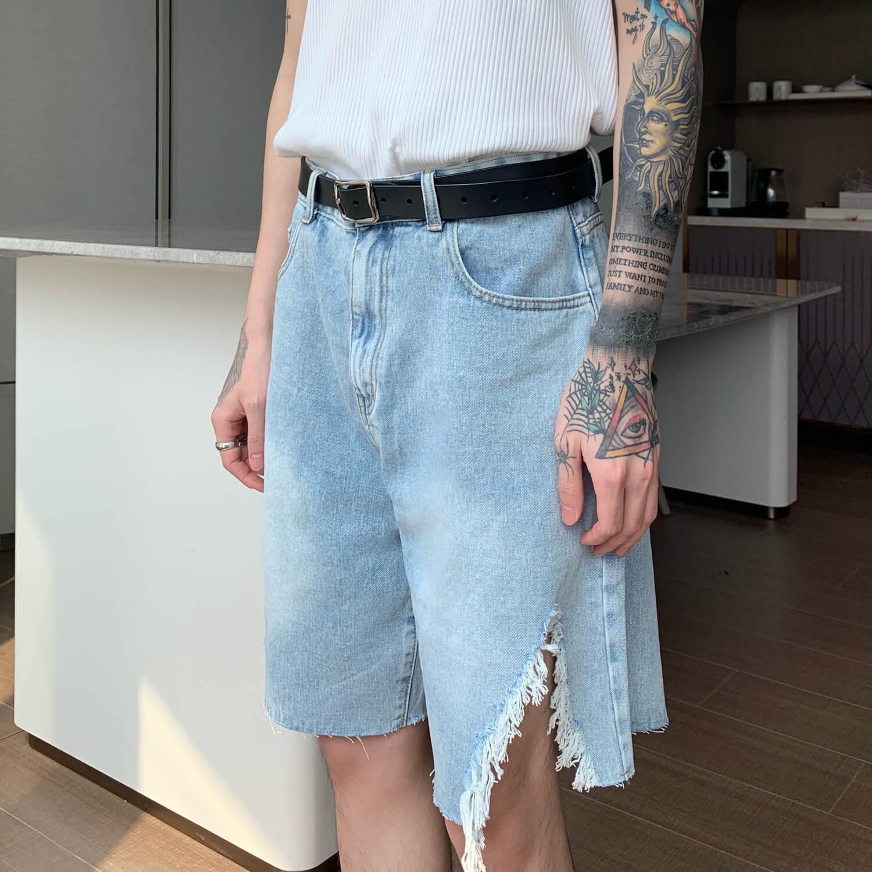 Шорты Cui Layout Studio Ripped Split Denim Shorts (8)
