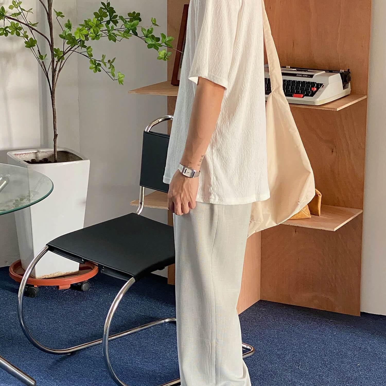 Брюки 19 Studio Double Belt Cloth Pants (2)