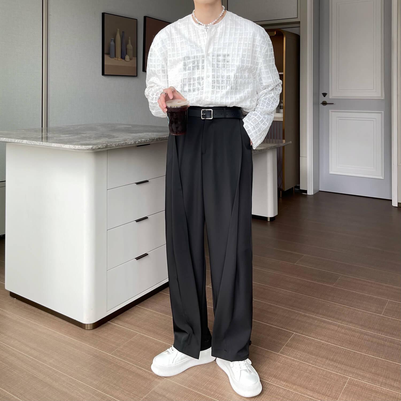 Брюки Cui Layout Studio Draped Crumple Trousers (3)