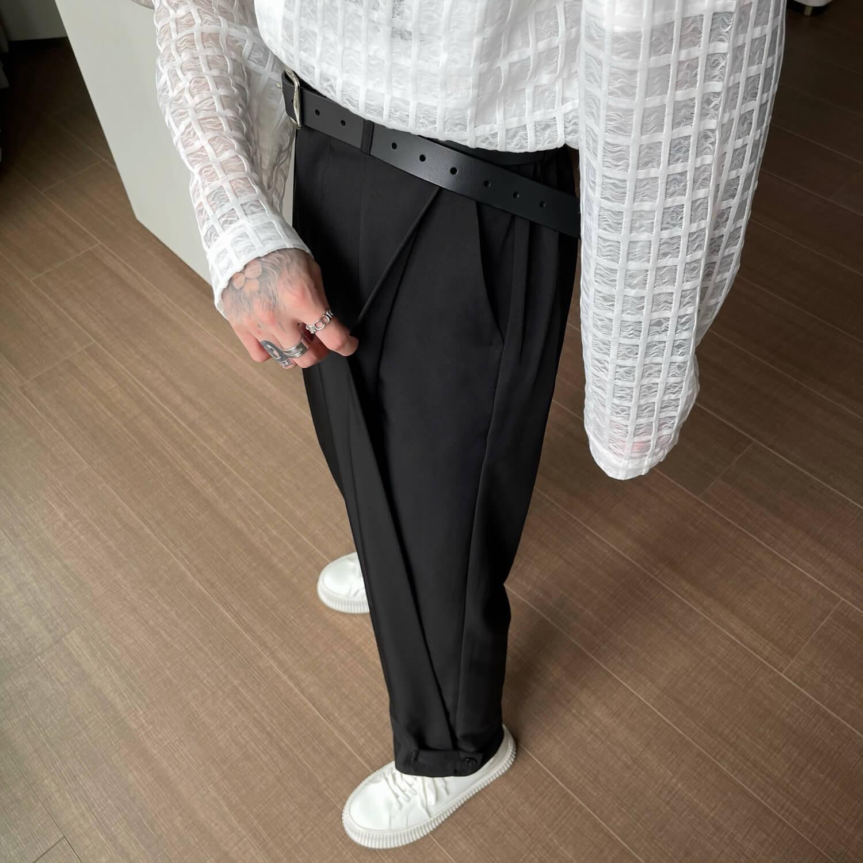 Брюки Cui Layout Studio Draped Crumple Trousers (4)