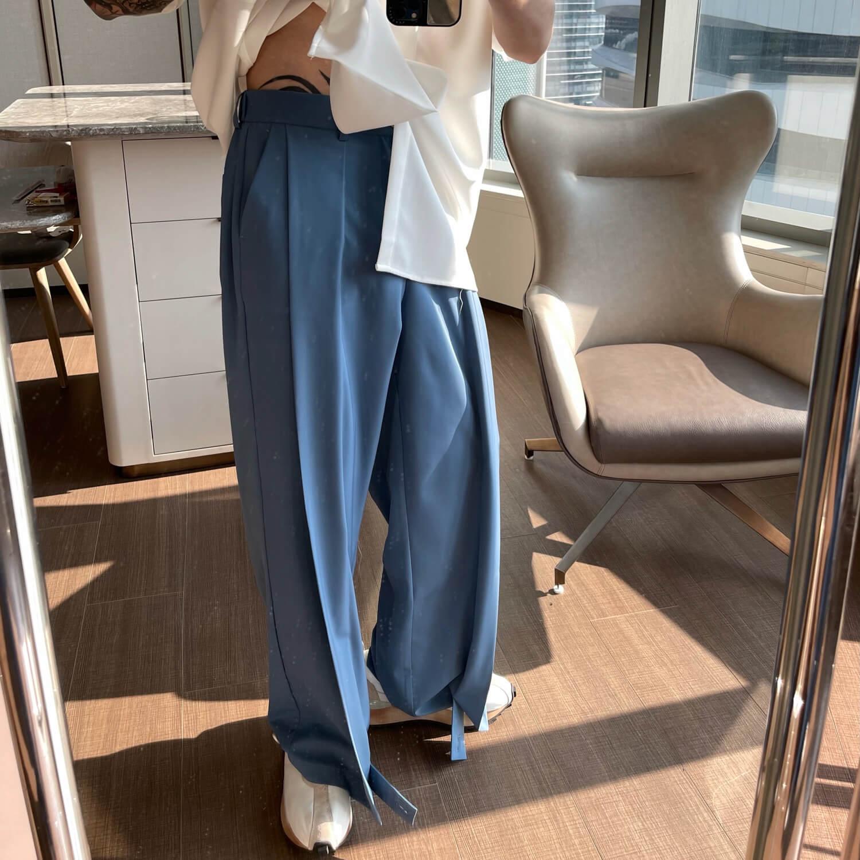 Брюки Cui Layout Studio Draped Crumple Trousers (8)