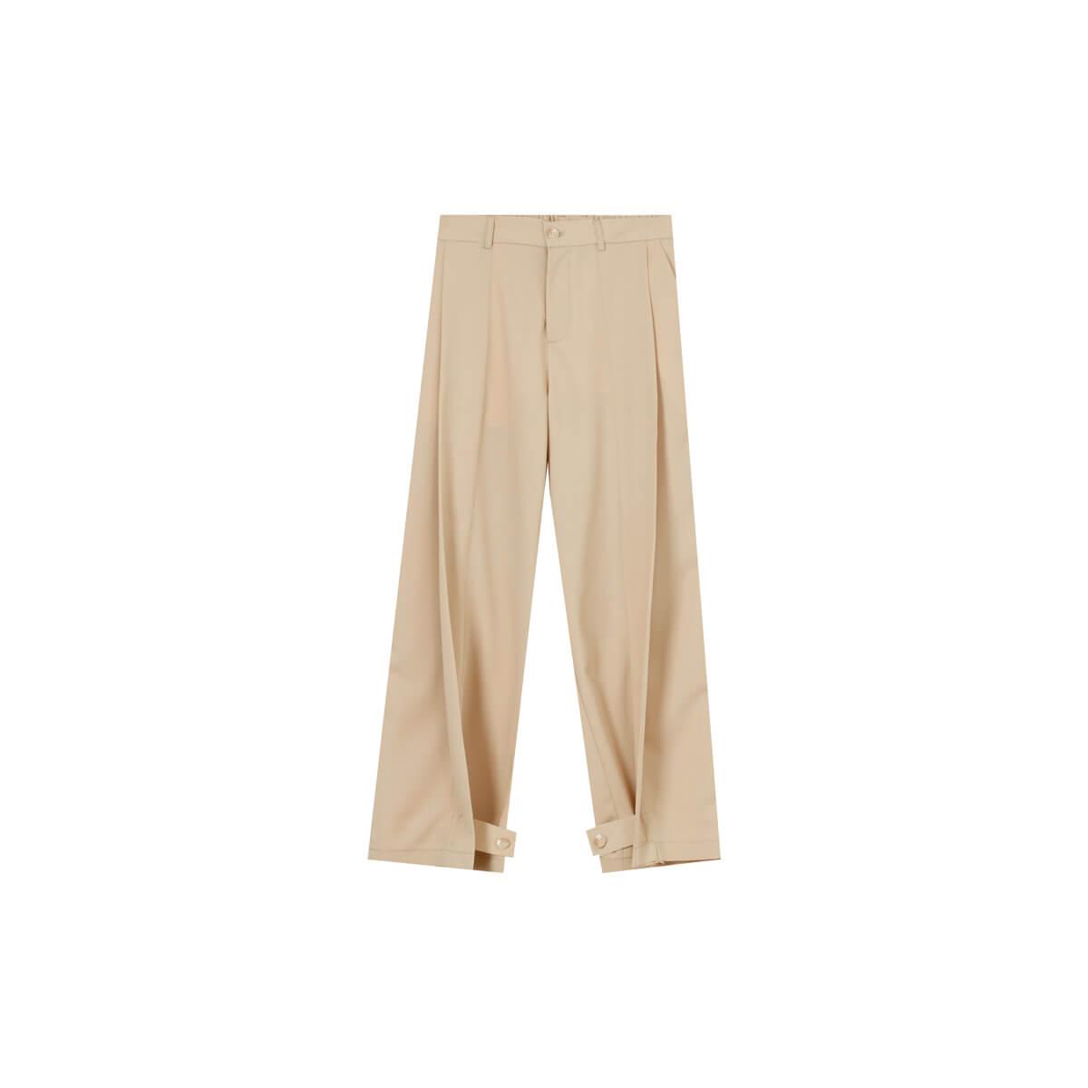 Брюки Cui Layout Studio Draped Crumple Trousers Beige