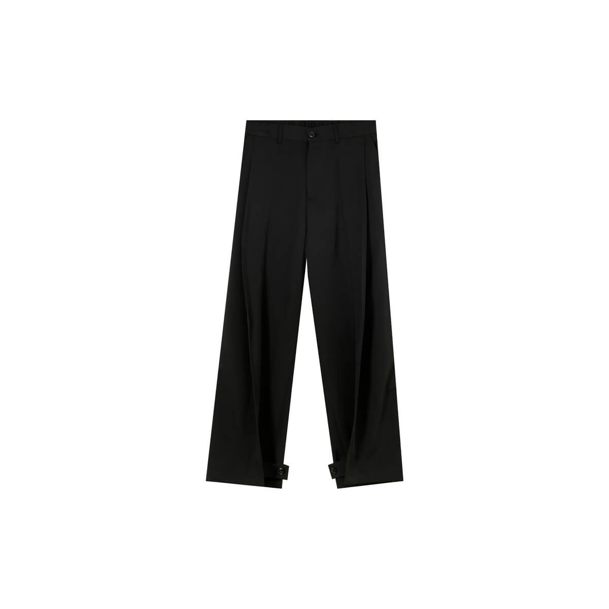 Брюки Cui Layout Studio Draped Crumple Trousers Black