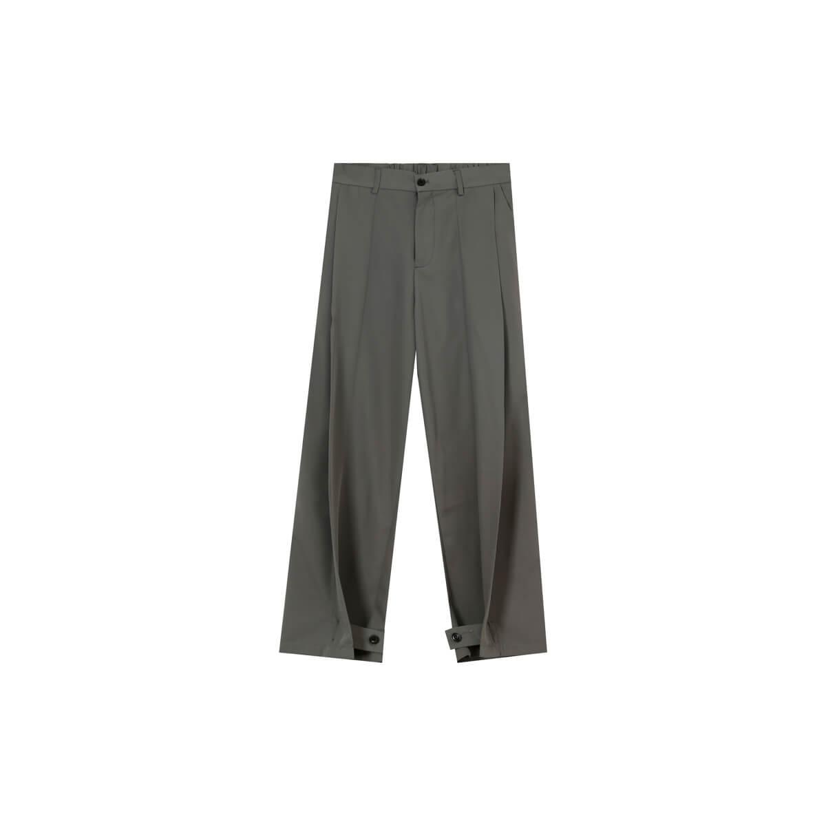 Брюки Cui Layout Studio Draped Crumple Trousers Gray
