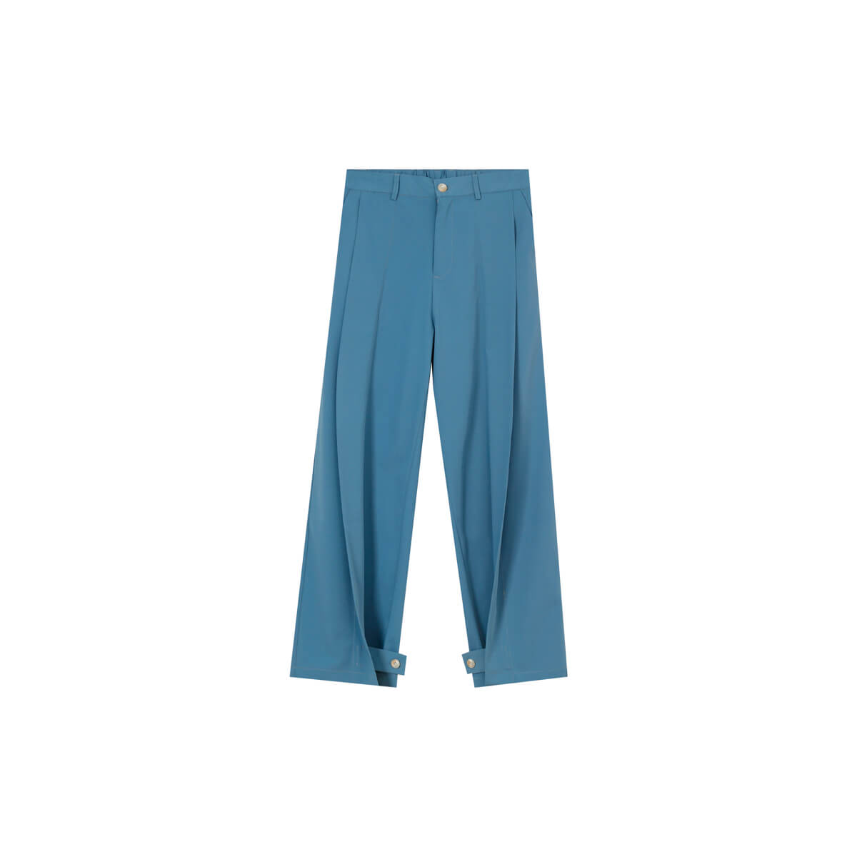 Брюки Cui Layout Studio Draped Crumple Trousers Light Blue