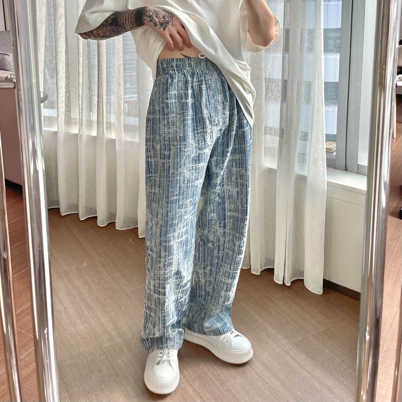 Брюки Cui Layout Studio Pants Combination Texture Light Blue (2)