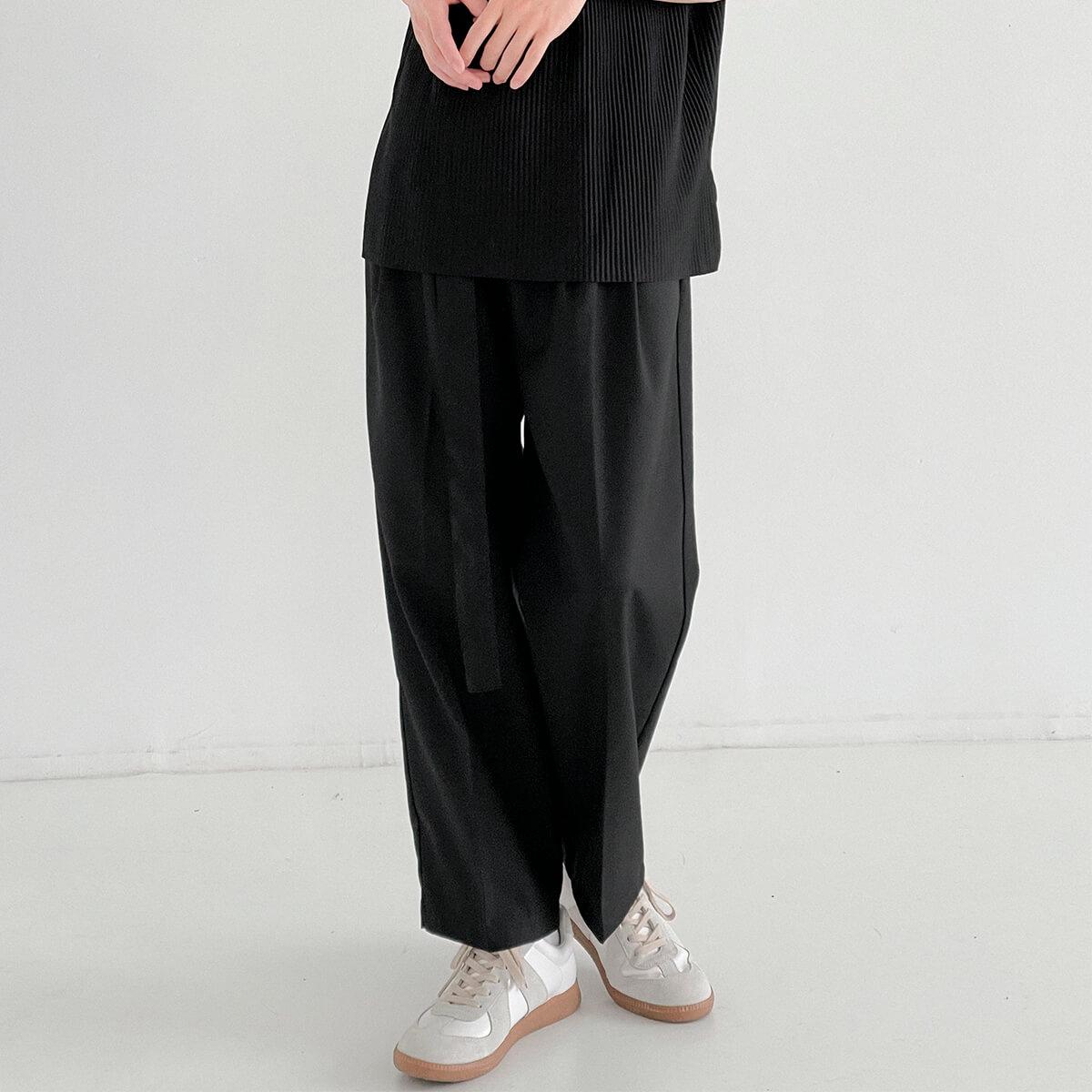 Брюки DAZO Studio Straight Fitted Pants Fabric Belt (1)