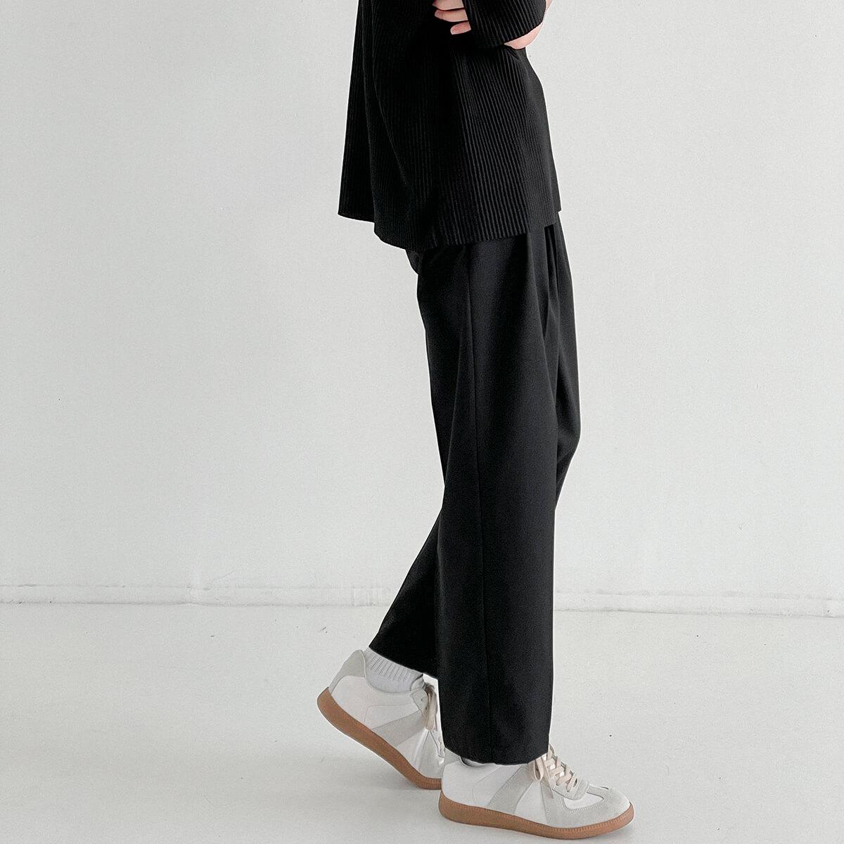 Брюки DAZO Studio Straight Fitted Pants Fabric Belt (2)