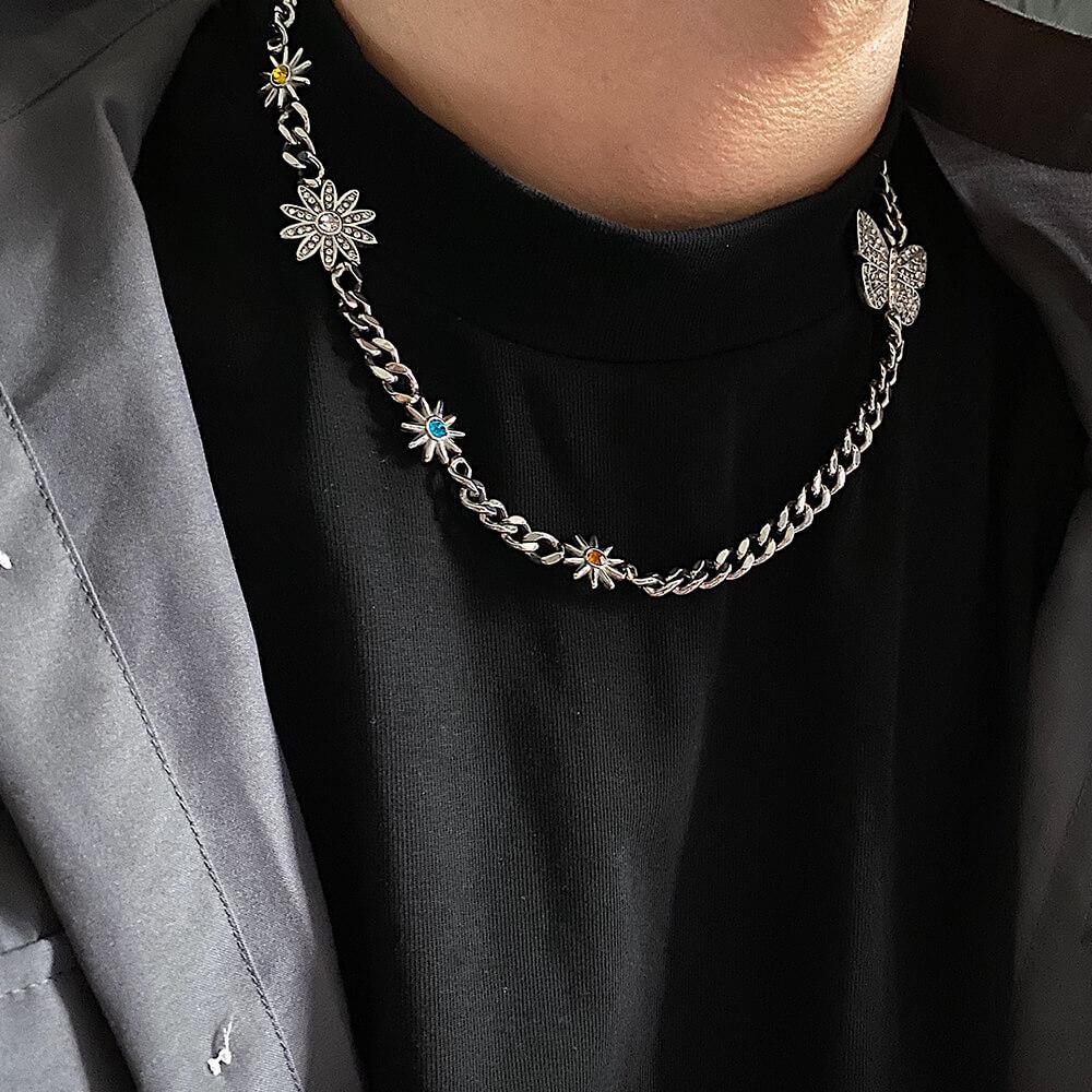 Колье SAZ Studio Flower Butterfly Necklace (1)