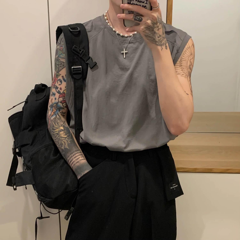 Майка Cui Layout Studio Tank Top Ripped Shoulders (1)