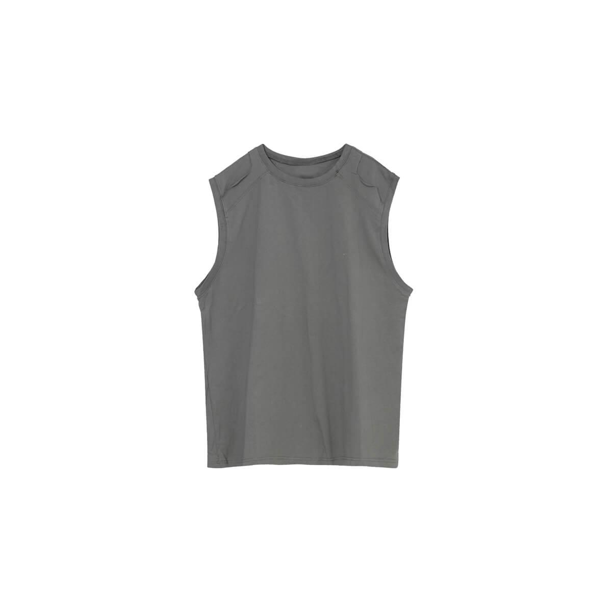 Майка Cui Layout Studio Tank Top Ripped Shoulders Gray