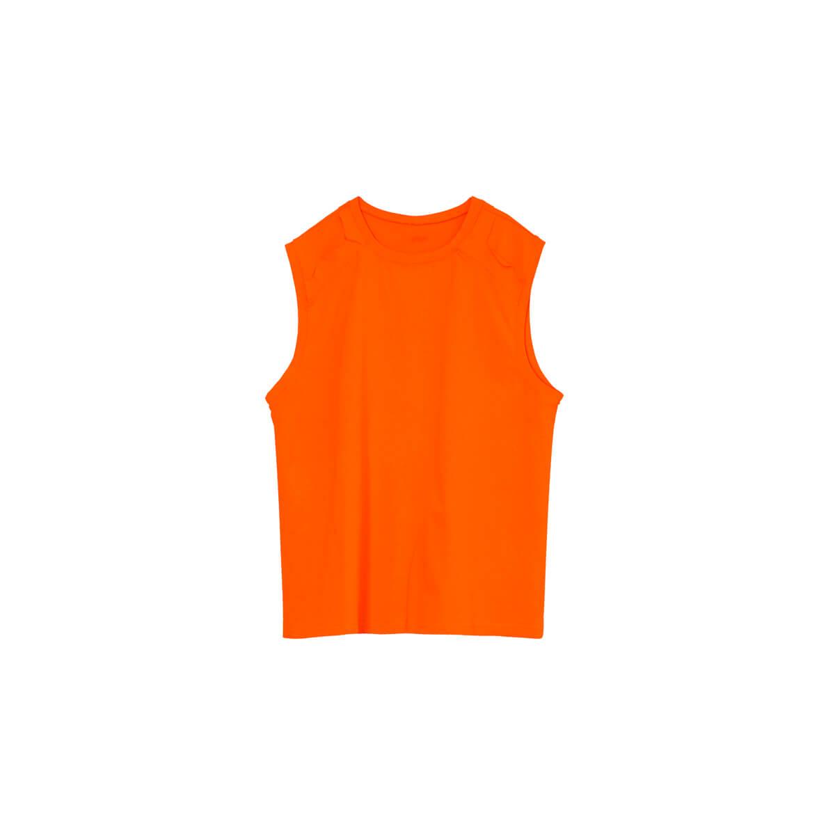 Майка Cui Layout Studio Tank Top Ripped Shoulders Orange