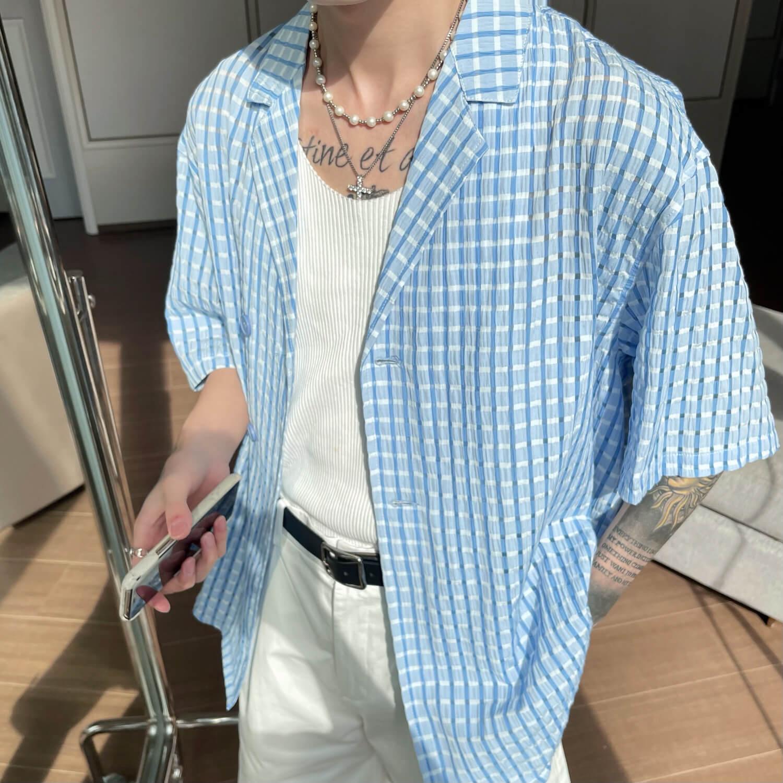 Рубашка Cui Layout Studio Lightweight Shirt Lattice Texture (1)