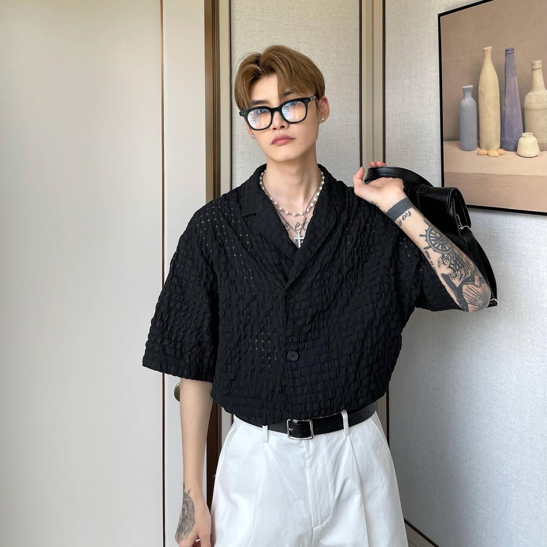 Рубашка Cui Layout Studio Lightweight Shirt Lattice Texture (15)
